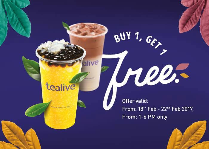 Dear Malaysians Chatime Is Now Tealive With Buy 1 Free 1