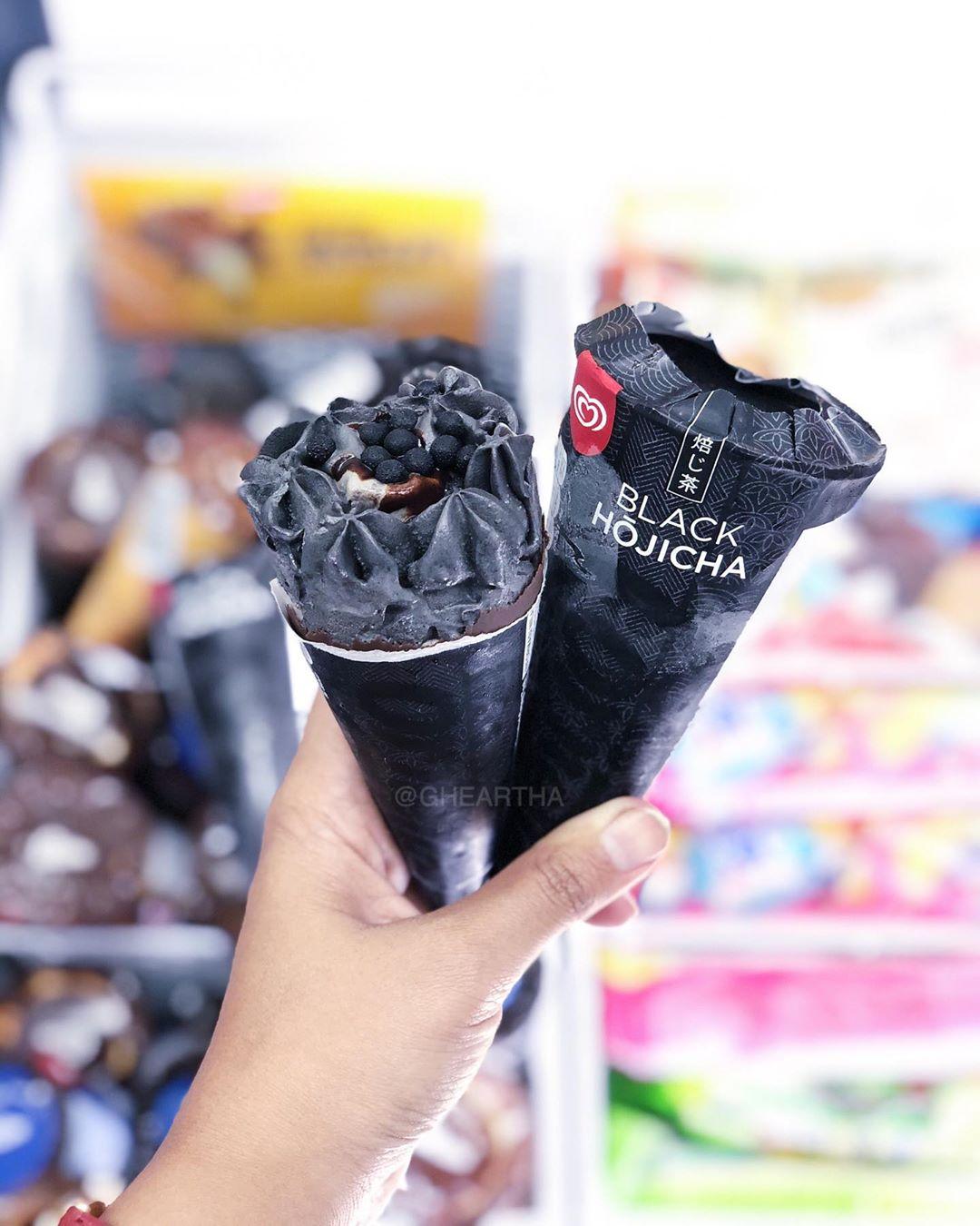 Black Hojicha Cornetto Malaysia