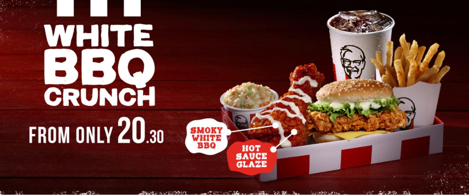 KFC White BBQ Crunch