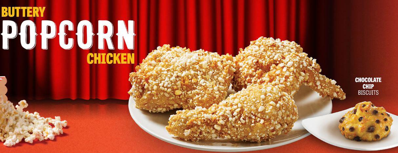 buttery popcorn chicken