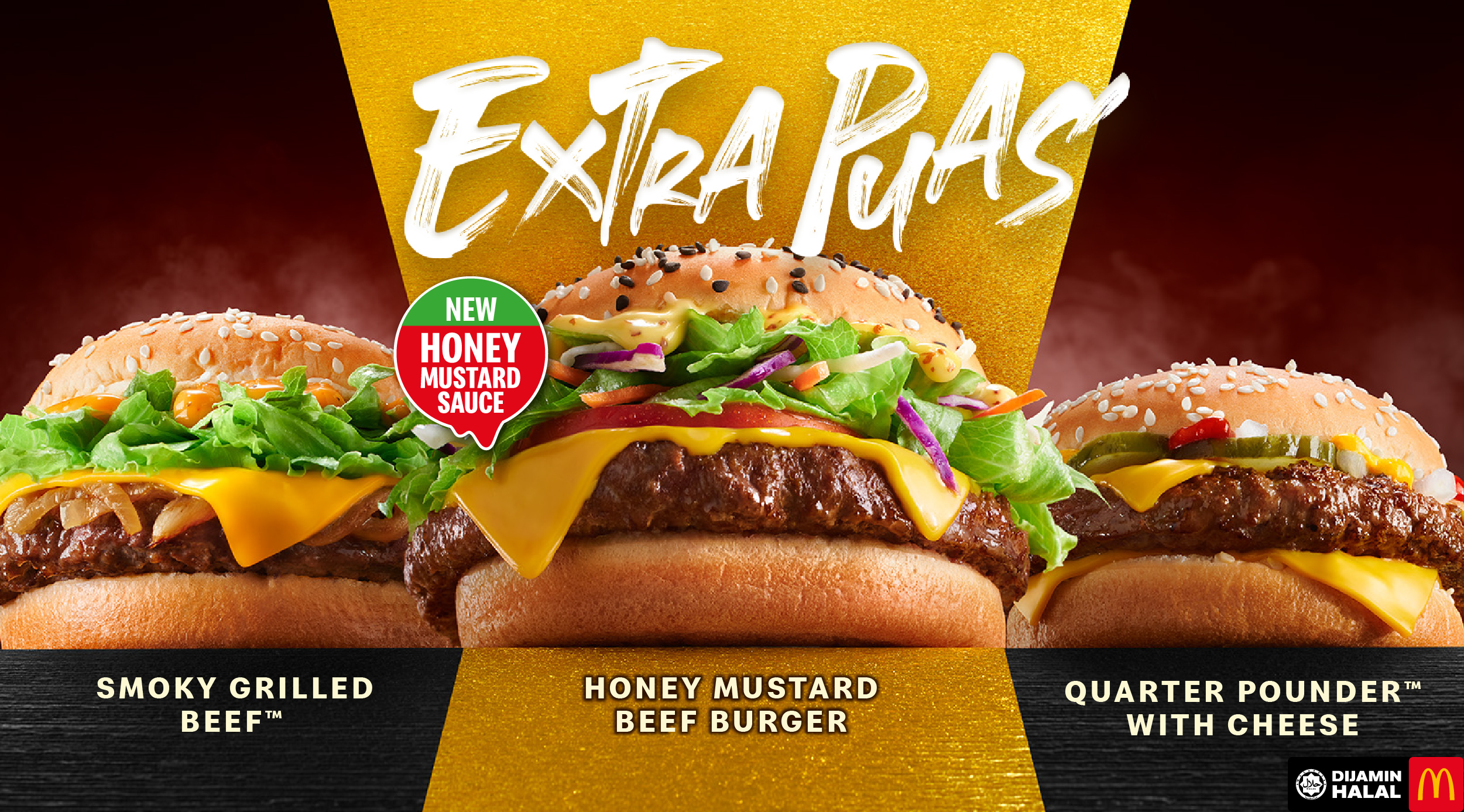 McDonald's Honey Mustard Beef Burger