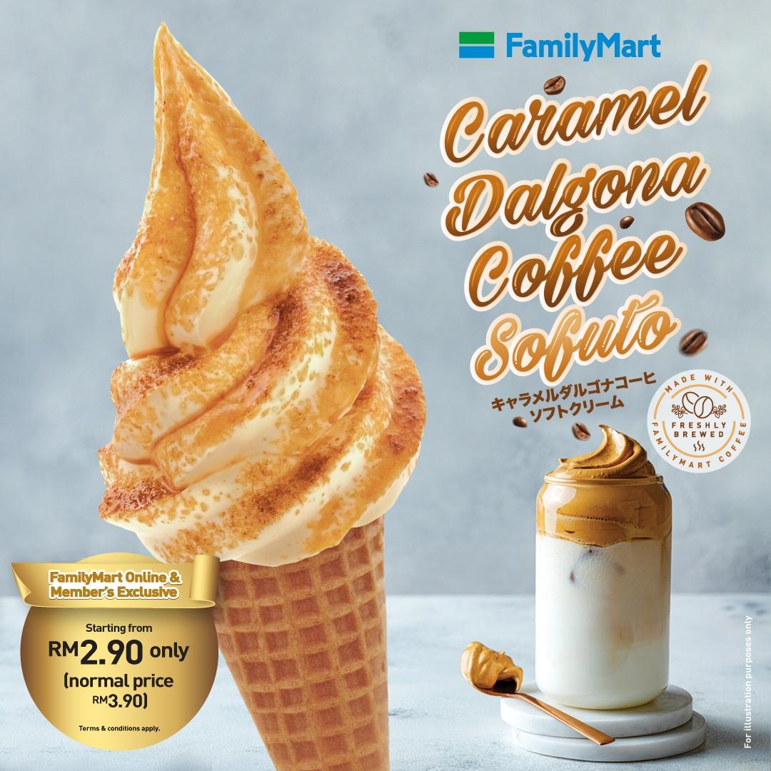 Caramel Dalgona Coffee Sofuto FamilyMart